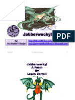 Jabberwocky Presented by Dr.shadia Yousef Banjar