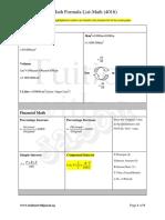 E-Math Formula List - Math (4016)