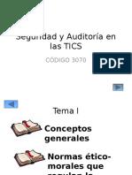 Tema I-Conceptos generales seguridad y auditoria en las tic