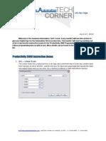 TechCorner 01 - Productivity3000 Instruction Boxes