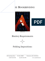 Bindery Requirements - Folding Impositions (ACME Bookbindinding)