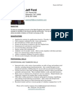Jeff Ford Resume
