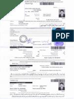 Naeem Abbas F.a Admission Form