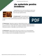 3 Tratamente Naturiste Pentru Disfunctii Tiroidiene