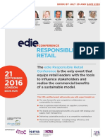 edie Responsible Retail Conference brochure