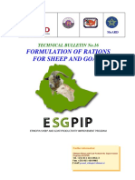 Formulation of Ration for Sheep and Goats