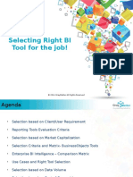 Selecting Right BI Tool