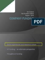 FI - Company Funding - Eric Koefoot 2016