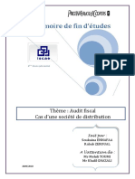 Audit Fiscal Cas d Une Societe de Distribution