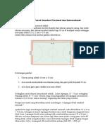 Ukuran Lapangan Futsal Standard Nasional Dan International