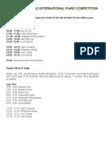 Semi Final(Schedule)