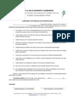 Financial Aid Grant Agreement