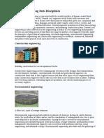 Civil Engineering Sub-Disciplines.doc