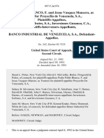 Pedro Pablo Blanco, F. And Jesus Vasquez Mancera, as Trustees for Proyecfin De Venezuela, S.A., Inversiones Eufrates, S.A., Inversiones Gusanca, C.A., Plaintiffs-Intervenors-Appellants v. Banco Industrial De Venezuela, S.A., 997 F.2d 974, 2d Cir. (1993)