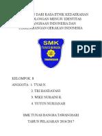 Pergeseran Dari Rasa Etnik Kedaerahan Atau Golongan Menuju Identitas Kebangsaan Indonesia Dan Perkembangan Gerakan Indonesia