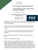 United States v. Herbert Roberts, Joan Roberts, and Lewis Bromberg, 852 F.2d 671, 2d Cir. (1988)