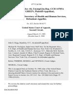 26 soc.sec.rep.ser. 66, unempl.ins.rep. Cch 14705a Harry Green v. Otis R. Bowen, Secretary of Health and Human Services, 877 F.2d 204, 2d Cir. (1989)
