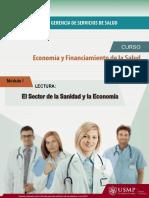 Lectura 1 El Sector de La Sanidad y La Economia