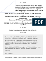 Willis R. Pertee Rebecca A. Pertee, His Wife v. Goodyear Tire & Rubber Company, a Foreign Corporation, & Third Party v. Dover Elevator Company, Third Party, 67 F.3d 296, 3rd Cir. (1995)