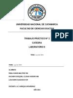 Trabajo Practico 2 - Ley de Ohm