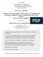 Beverly A. Azzaro v. County of Allegheny Tom Foerster, an Individual and Chairman, Allegheny County Commissioners and Wayne Fusaro, Beverly Azzaro, 110 F.3d 968, 3rd Cir. (1997)