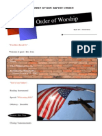 Order of Worship 05 30 2010 v1