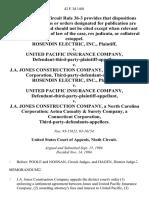 Rosendin Electric, Inc. v. United Pacific Insurance Company, Defendant-Third-Party-Plaintiff-Appellee v. J.A. Jones Construction Company, a North Carolina Corporation, Third-Party-Defendant-Appellant. Rosendin Electric, Inc. v. United Pacific Insurance Company, Defendant-Third-Party-Plaintiff-Appellant v. J.A. Jones Construction Company, a North Carolina Corporation Aetna Casualty & Surety Company, a Connecticut Corporation, Third-Party-Defendants-Appellees, 42 F.3d 1401, 3rd Cir. (1994)