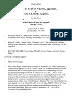 United States v. Vicki S. Leese, 176 F.3d 740, 3rd Cir. (1999)