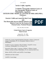 Patrick Carr v. American Red Cross Osteopathic Medical Center of Philadelphia, Osteopathic Medical Center of Philadelphia, Osteopathic Medical Center of Philadelphia v. Patrick Carr and American Red Cross, and the Honorable Stewart Dalzell, District Judge, United States District Court for the Eastern District of Pennsylvania, Nominal, 17 F.3d 671, 3rd Cir. (1994)