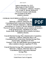 22 Employee Benefits Cas. 2717, Pens. Plan Guide (Cch) P 23952o Steven W. Bennett Edmund L. Gillooley Joseph L. Alessandrini, Jr. Frank W. Hewitt Richard E. Semarad Warren E. Kaylor, Individually and on Behalf of All Others Similarly Situated v. Conrail Matched Savings Plan Administrative Committee Deborah A. Melnyk John/jane Does 1-10 Consolidated Rail Corporation Matched Savings Plan, Steven W. Bennett Edmund L. Gillooley Joseph L. Alessandrini, Jr. Frank W. Hewitt Richard E. Semarad Warren E. Kaylor, Individually and on Behalf of All Members of the Proposed Class, in 97-1916. Joanne Kelly, Individually and on Behalf of All Others Similarly Situated v. Conrail Matched Savings Plan Administrative Committee Deborah A. Melnyk John/jane Does 1-10 Consolidated Rail Corporation Matched Savings Plan, Joanne Kelly, in 97-1917. George E. Gale, Iii, Individually and on Behalf of All Others Similarly Situated, 97-1918 v. Conrail Matched Savings Plan Administrative Committee Deborah A. Melnyk Jo