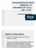 Freedom of Information Bill HB 3732