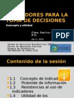 I- Indicadores Concepto y Utilidad
