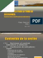III- Construcción y clasificación de indicadores