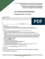 2011.1 P2 - COMUNICAÇÃO EMPRESARIAL - T1