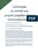 Projeto Esperanca Aqui Para Inibir a Hipocrisia Cultural Brasileira!