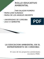 Desarrollo Educativo Ambeintal Diapossitivas