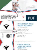 Thermopompe murale Whisper WIFI par Samsung - comparer 3 prix