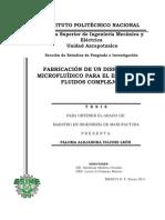 Fabricación de Un Dispositivo Microfluídico Para El Estudio de Fluidos Complejos