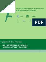 El Patrimonio Cultural en América Latina y El Caribe