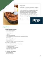 Robins Nest Cupcakes
