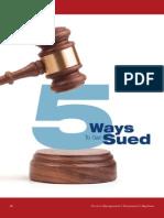 5 Ways to Get Sued