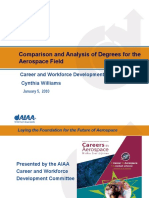 Comparison and Analysis of Degrees for the Aerospace Field