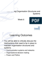 Maintaining Organisational Structures and Systems