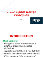 Block Cipher Design Priciples