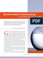 Government Contracting - Look Before You Leap