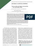 Forma literária e crítica da lógica racionalista em Guimarães Rosa - por João A. Hansen