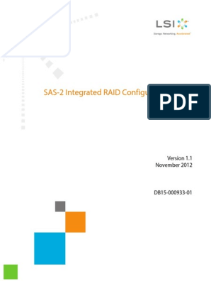 Sas2ircu User Guide | Command Line Interface | Solid State Drive