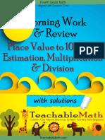 4th Grade Math in Focus