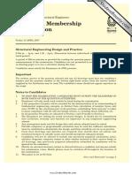 CM Exam Paper 2007 (Metric)