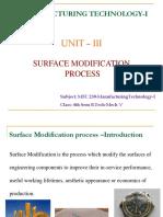 Surface Modification Process